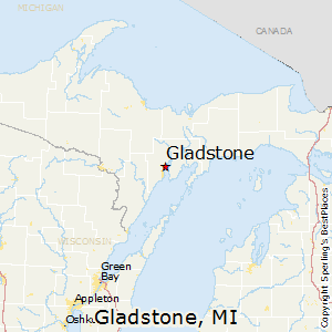 Gladstone,Michigan Map