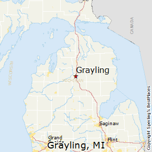 Grayling,Michigan Map