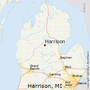 Harrison,Michigan Map