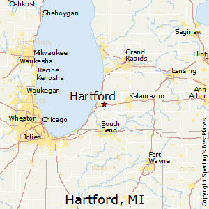 Hartford,Michigan Map