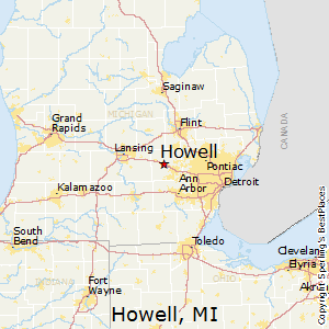 Howell,Michigan Map