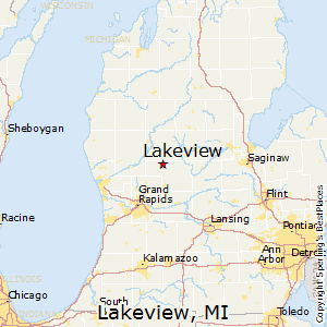 Lakeview,Michigan Map