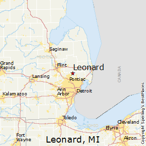 Leonard Michigan Map.Best Places To Live In Leonard Michigan