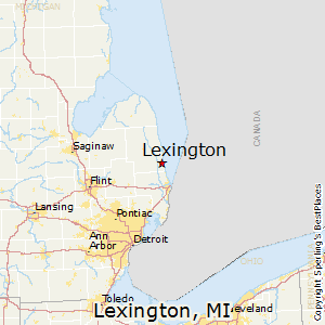 Lexington,Michigan Map