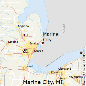 Marine_City,Michigan Map