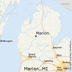 Marion,Michigan Map