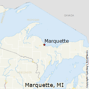 Marquette,Michigan Map