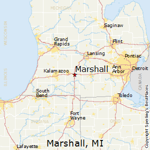 Marshall,Michigan Map