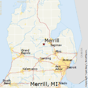 Merrill,Michigan Map