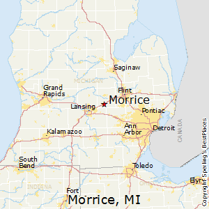 Morrice,Michigan Map