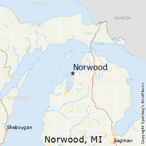 Norwood,Michigan Map