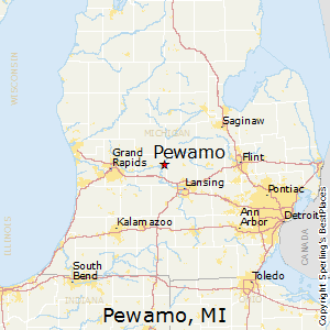 Pewamo,Michigan Map