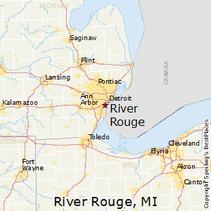Rouge River Michigan Map.River Rouge Michigan Economy