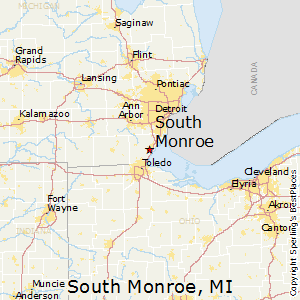 South_Monroe,Michigan Map