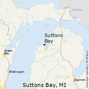 Suttons_Bay,Michigan Map