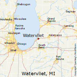 Watervliet,Michigan Map