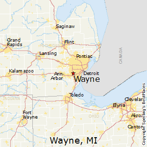 Best Places To Live In Wayne Michigan - Michigan map with cities