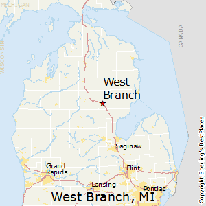West_Branch,Michigan Map