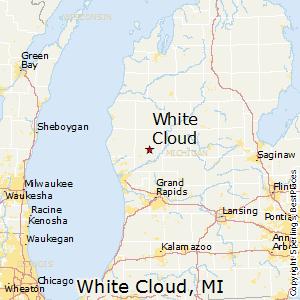 Addison Michigan Map.Comparison White Cloud Michigan Addison Michigan