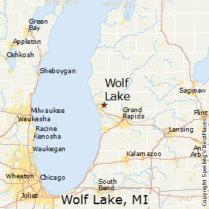 Wolf_Lake,Michigan Map