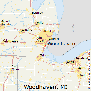 Woodhaven,Michigan Map