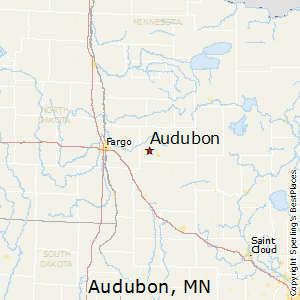 Audubon,Minnesota Map