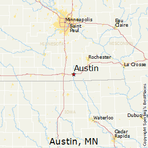 Austin,Minnesota Map