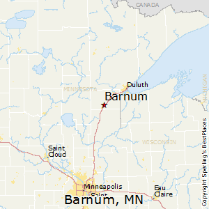 Barnum,Minnesota Map