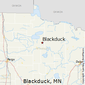 Blackduck,Minnesota Map