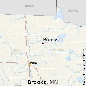 Brooks,Minnesota Map