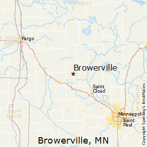 Browerville,Minnesota Map