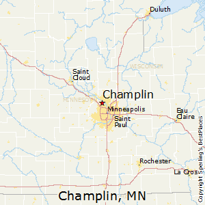 Champlin,Minnesota Map
