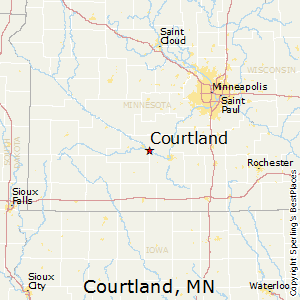 Courtland,Minnesota Map