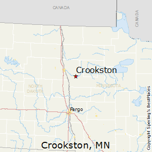 Crookston,Minnesota Map