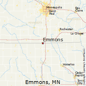 Emmons,Minnesota Map