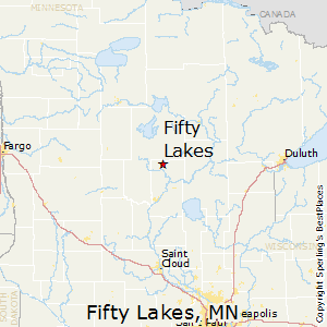 Fifty_Lakes,Minnesota Map