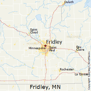Fridley,Minnesota Map