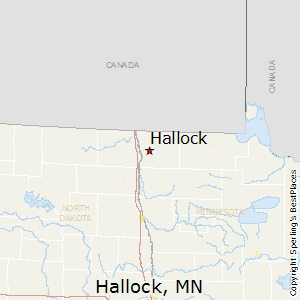 Hallock,Minnesota Map