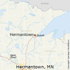 Hermantown,Minnesota Map