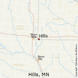 Hills,Minnesota Map