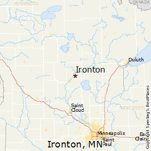 Ironton,Minnesota Map
