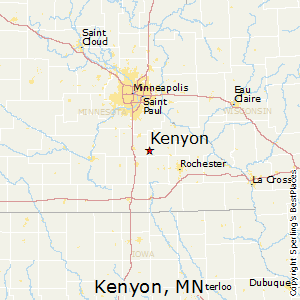 Kenyon,Minnesota Map