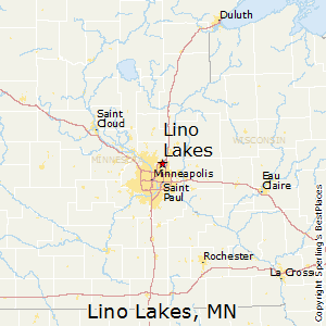 Minnesota Map With Lakes.Lino Lakes Minnesota Cost Of Living