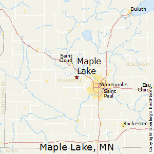 Maple_Lake,Minnesota Map