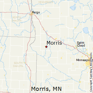 Morris,Minnesota Map