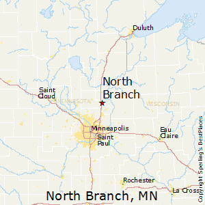 North_Branch,Minnesota Map