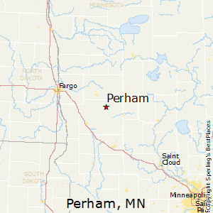 Perham,Minnesota Map