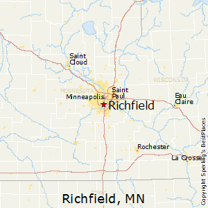 Richfield,Minnesota Map