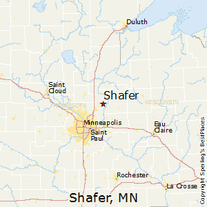 Shafer,Minnesota Map