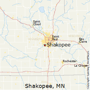 Shakopee,Minnesota Map